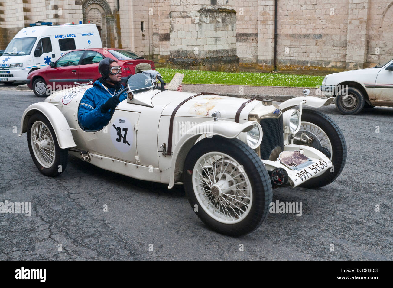 1930s riley classic sports car france stock photo 56864643 alamy. Black Bedroom Furniture Sets. Home Design Ideas
