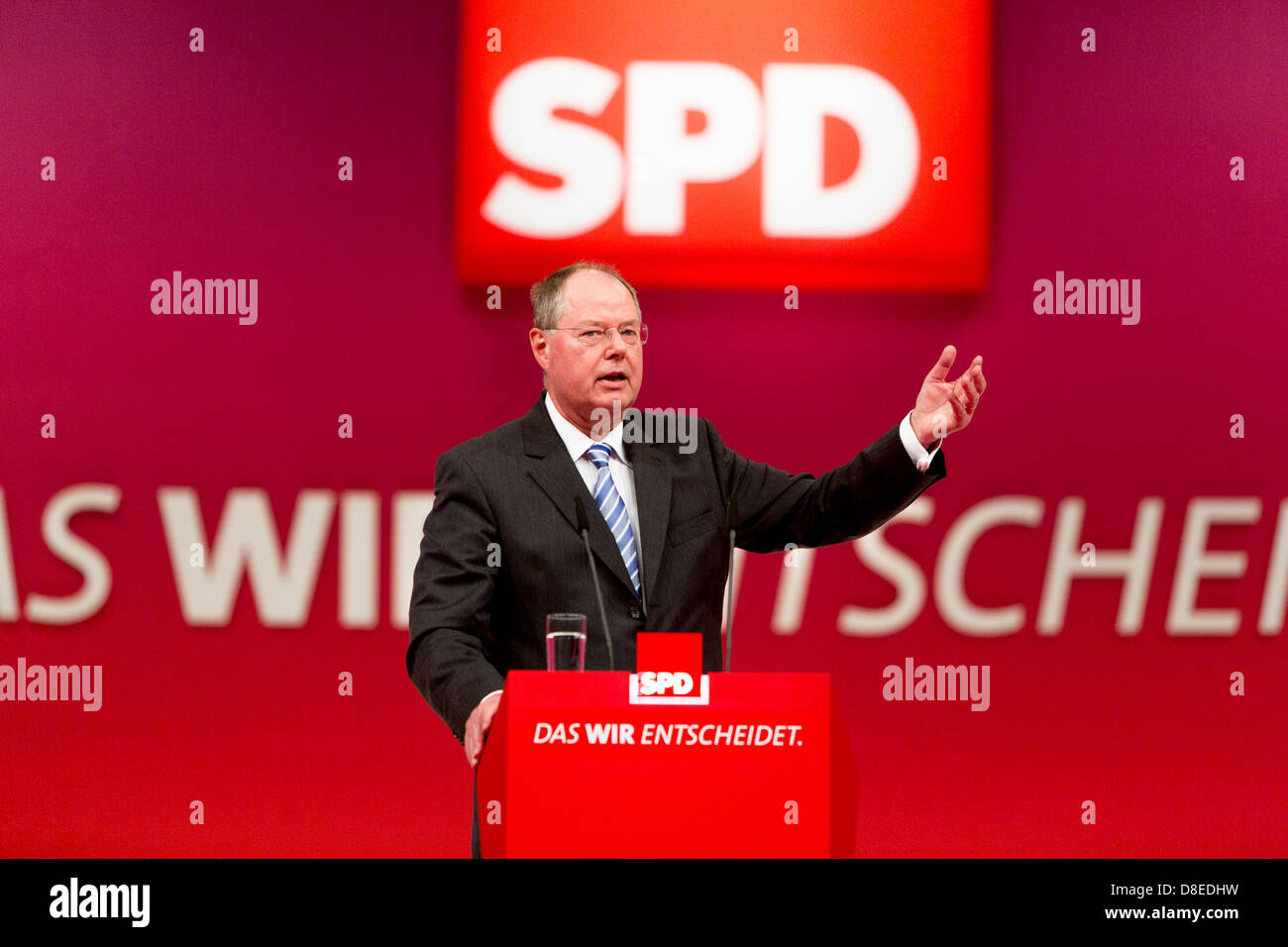Augsburg, Germany, Chancellor candidate Peer Steinbrueck, SPD - Stock Image