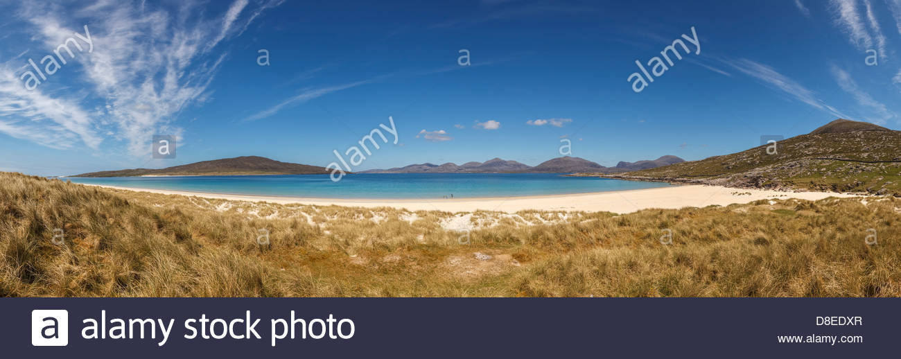 The beach at Tràigh Rosamol, West of Luskentyre, Isle of Harris, Outer Hebrides, Scotland, United Kingdom - Stock Image