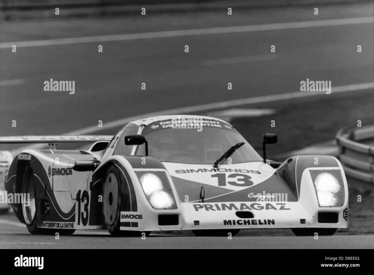 24 H of Le Mans 1986,Raphanel / De Cadenet / Courage,Primagaz Team Cougar,CougarC12 - Stock Image