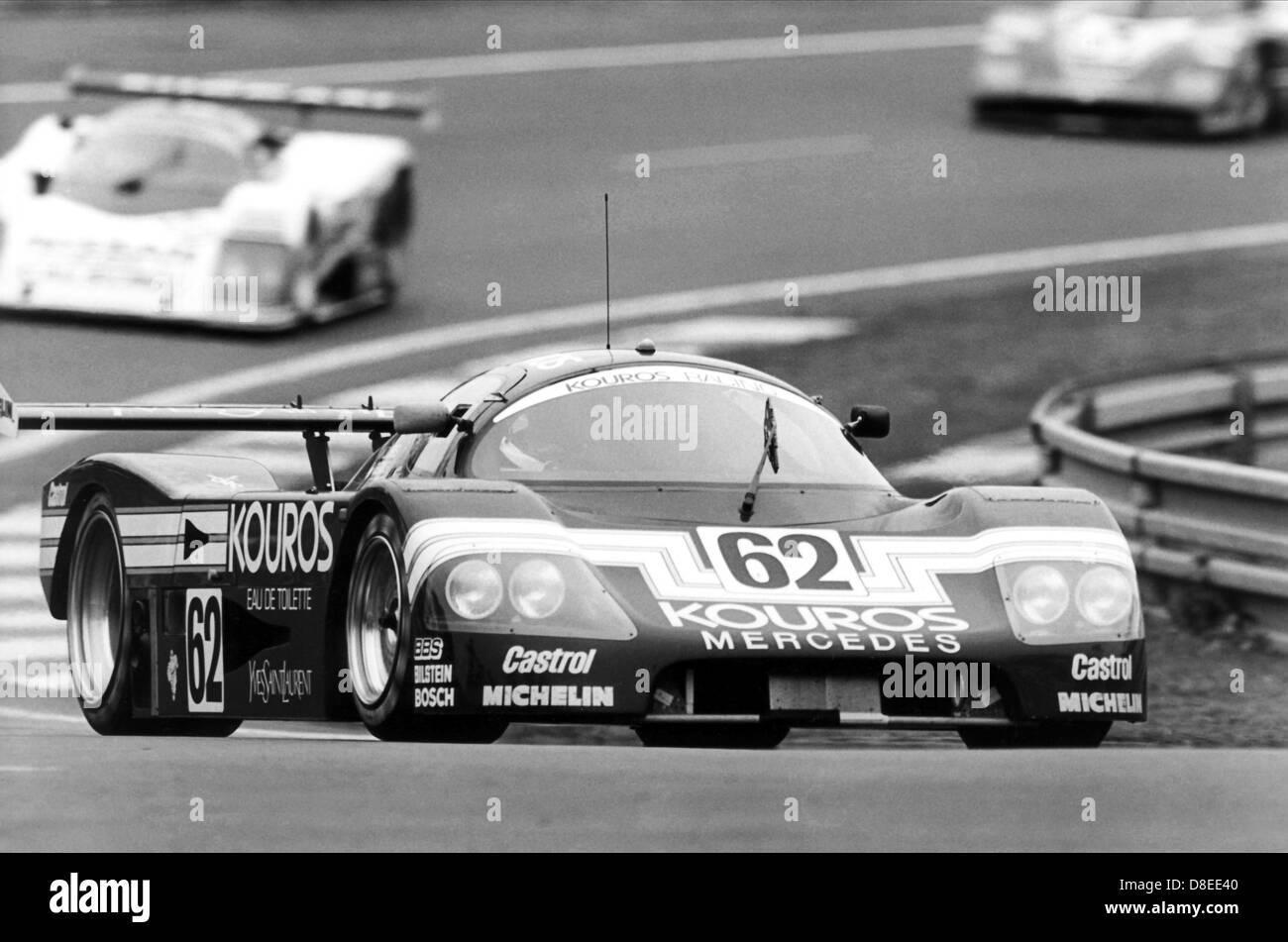 24 H of Le Mans 1986, Pescarolo / Danner / Quester, Mercedes Kouros. - Stock Image