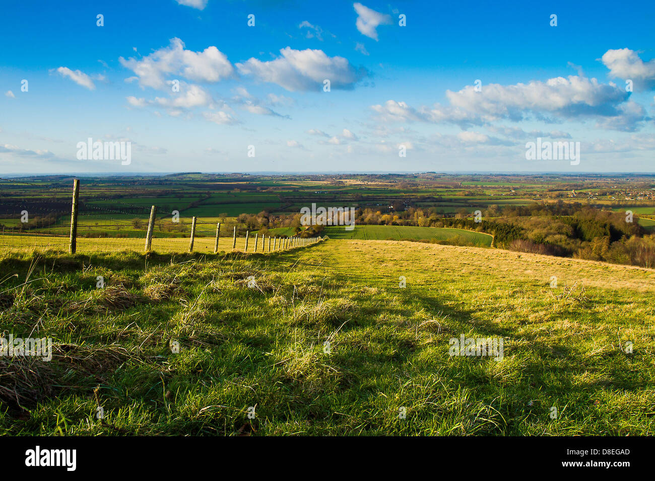 View from White Horse Hill.Oxfordshire - Stock Image