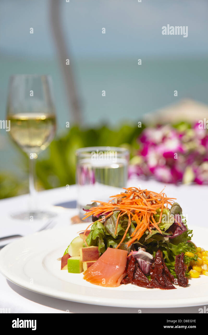 Salmon salad at Melati Beach Resort and Spa, Ko Samui, Thailand (PR) - Stock Image