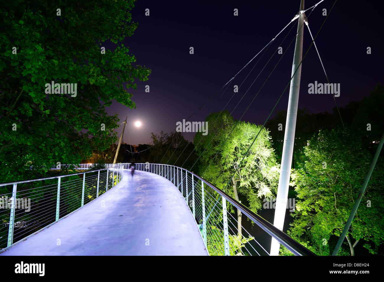 Liberty bridge in Greenville, South Carolina, USA - Stock Image