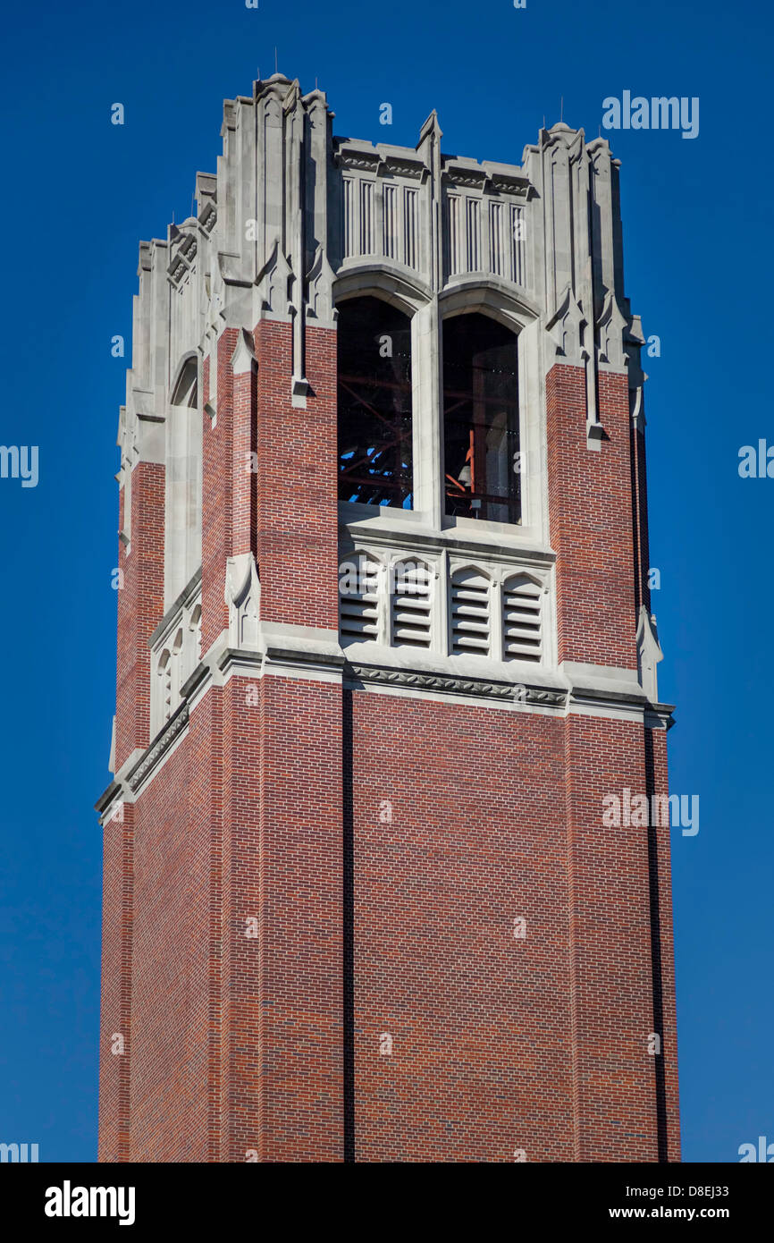 Top of the Century Tower on the University of Florida campus in Gainesville, Florida. - Stock Image