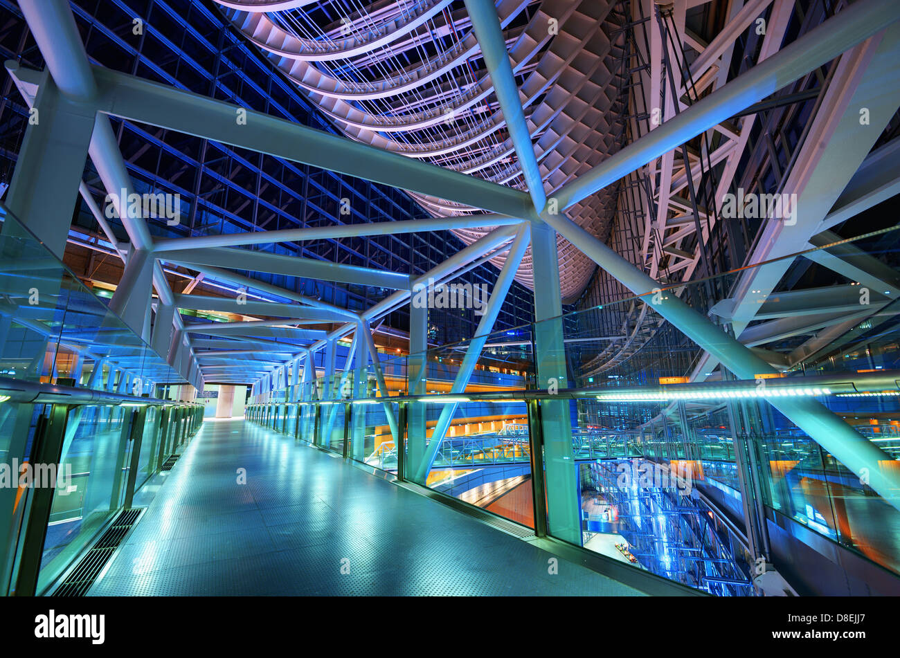 Futuristic architecture of Tokyo International Forum. - Stock Image