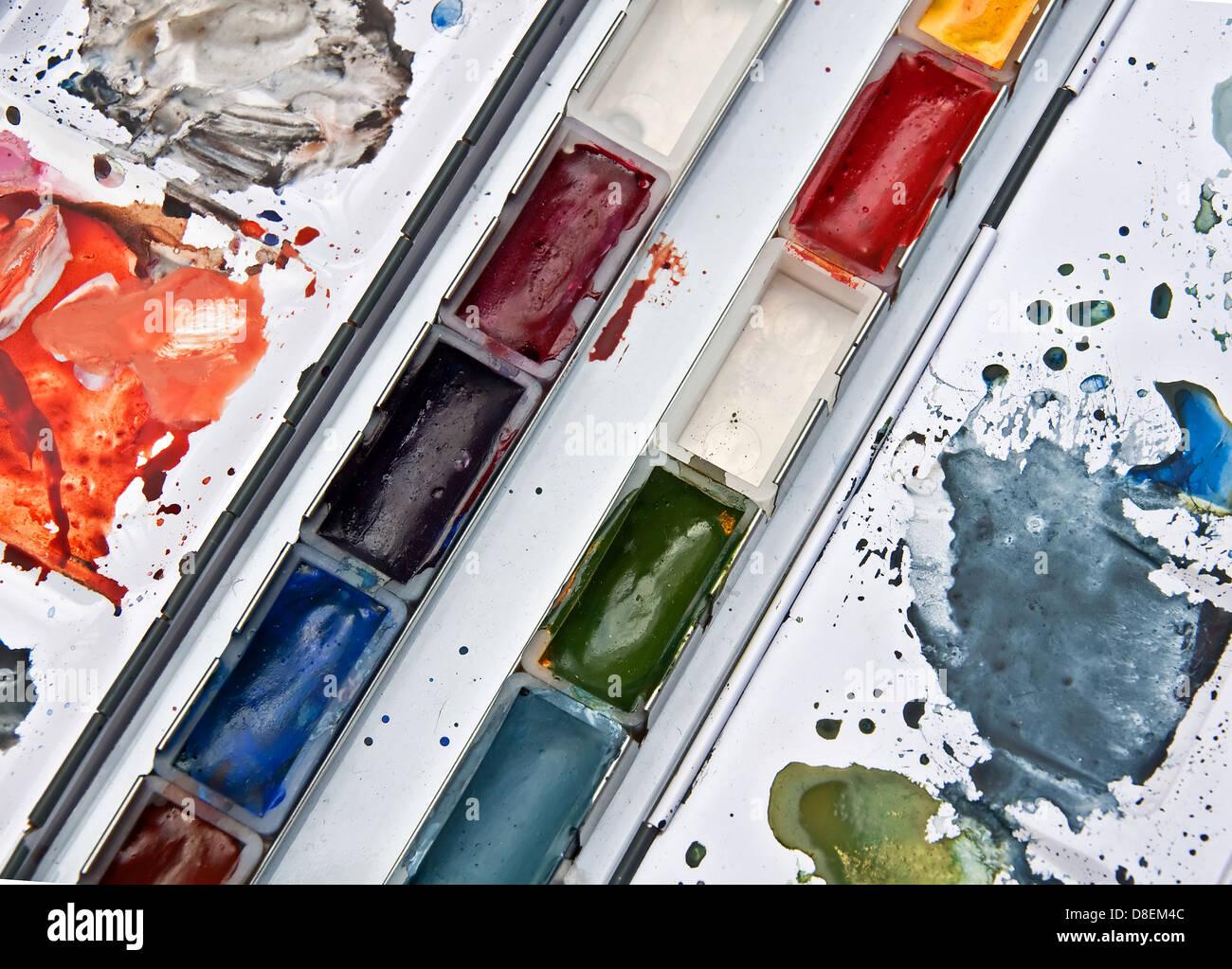 Artist Watercolor Paint Pallet Paint Palette Mixing Plate Pigment Tray Tools