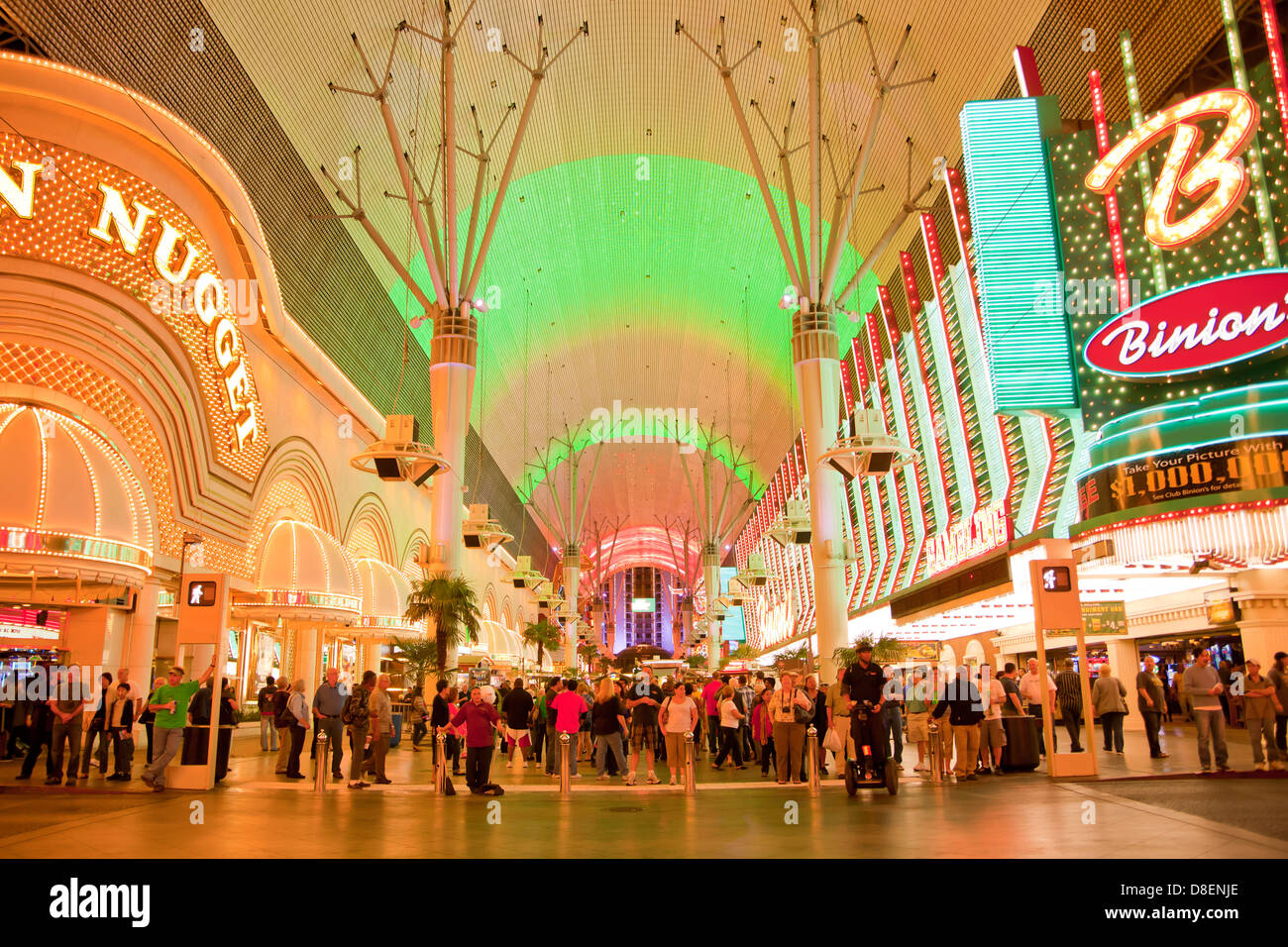lightshow at Fremont Street Experience, Downtown Las Vegas, Nevada, United States of America, USA - Stock Image