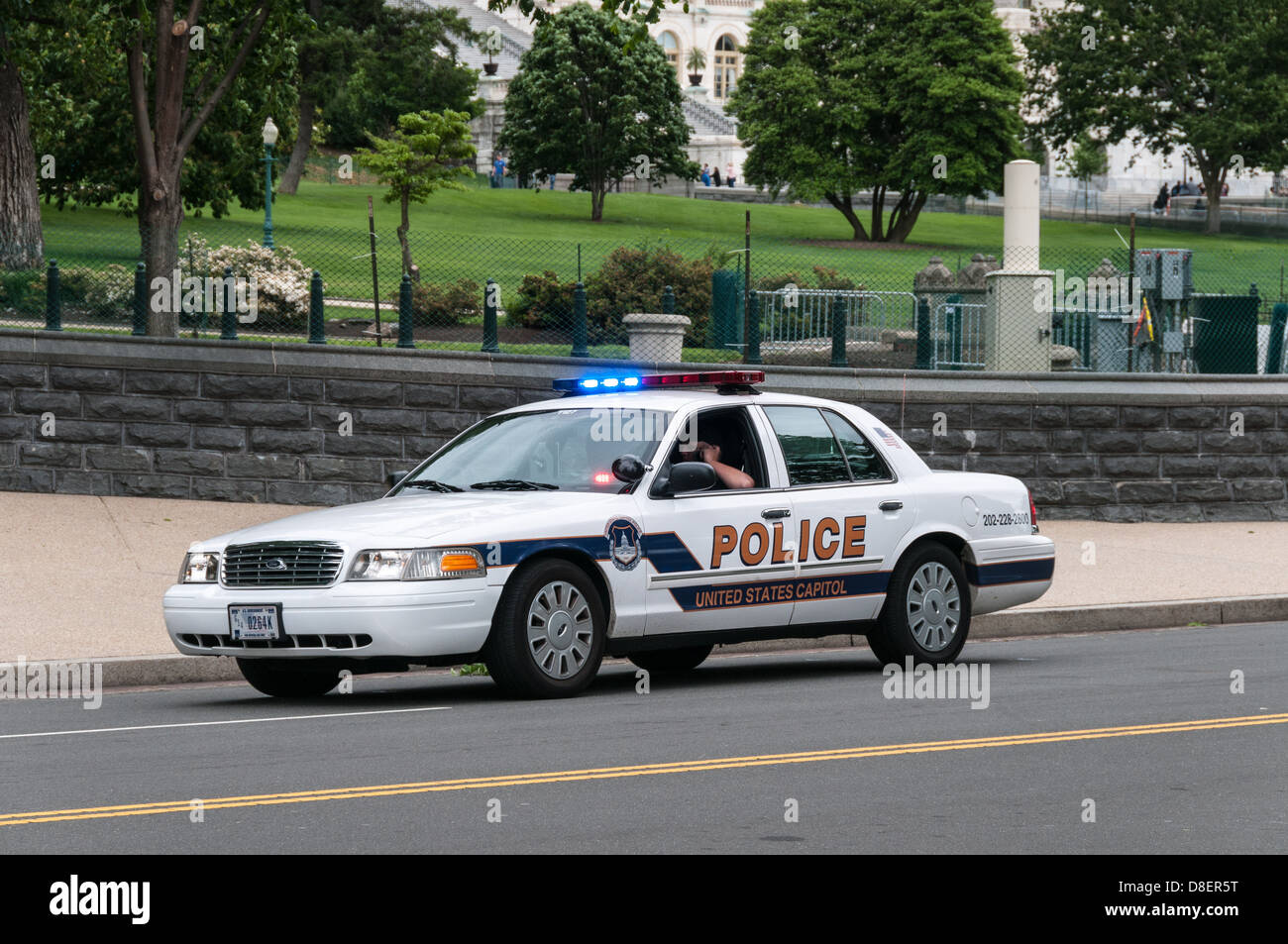 United States Capitol Police Ford Crown Victoria Police Car Washington Dc Stock Image