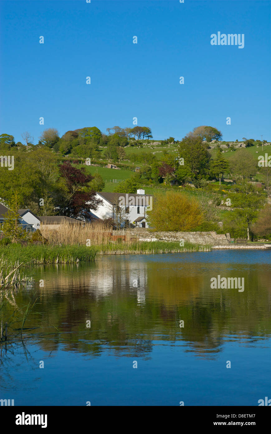 Great Urswick village and tarn, Cumbria, England UK - Stock Image