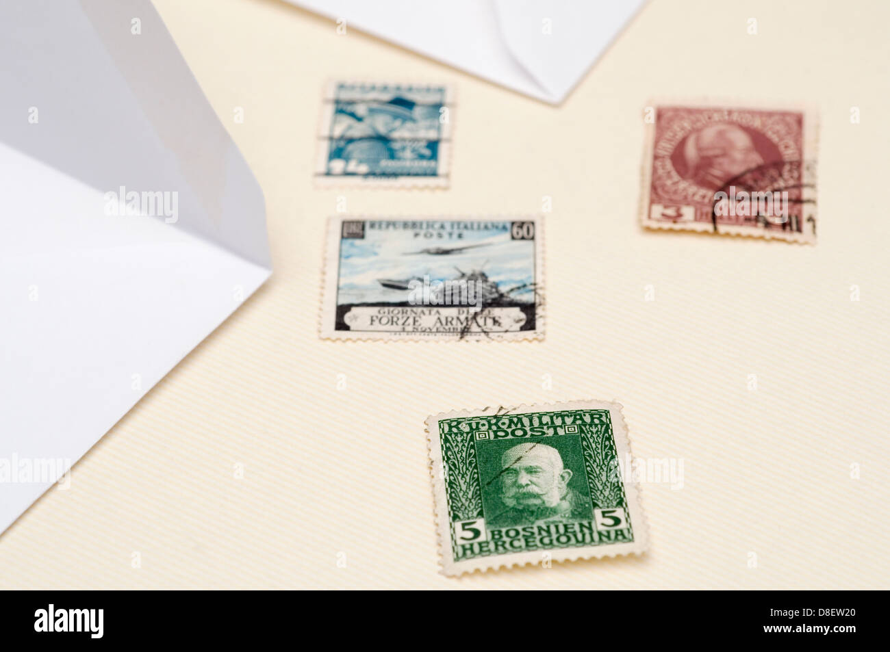 Antique Stamps - Stock Image