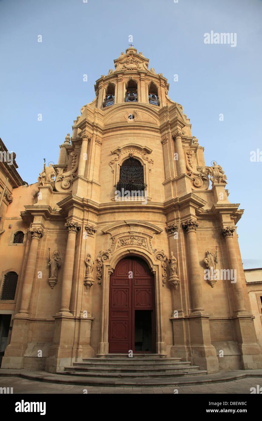 Italy, Sicily, Ragusa Ibla, San Giuseppe church, - Stock Image