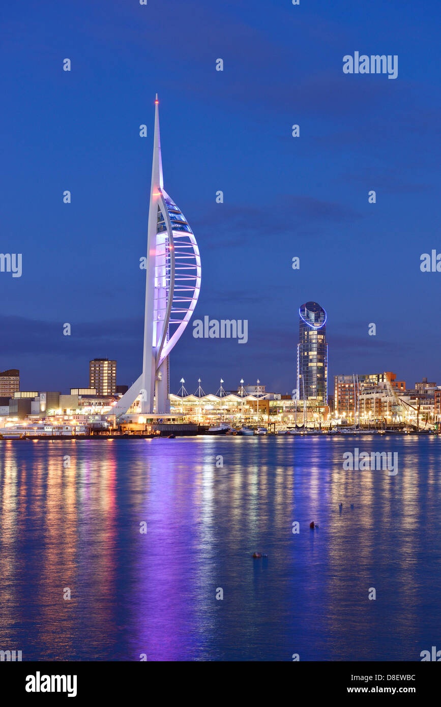 Spinnaker Tower and the skyline of Portsmouth harbour Stock Photo