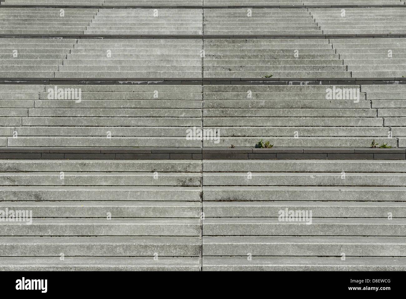 Concrete steps - Stock Image