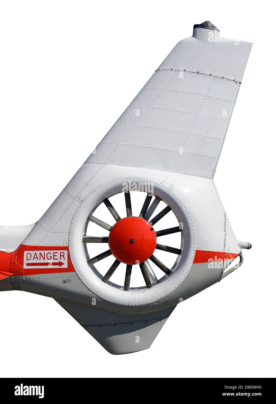 Helicopter tail rotor detail - Stock Image