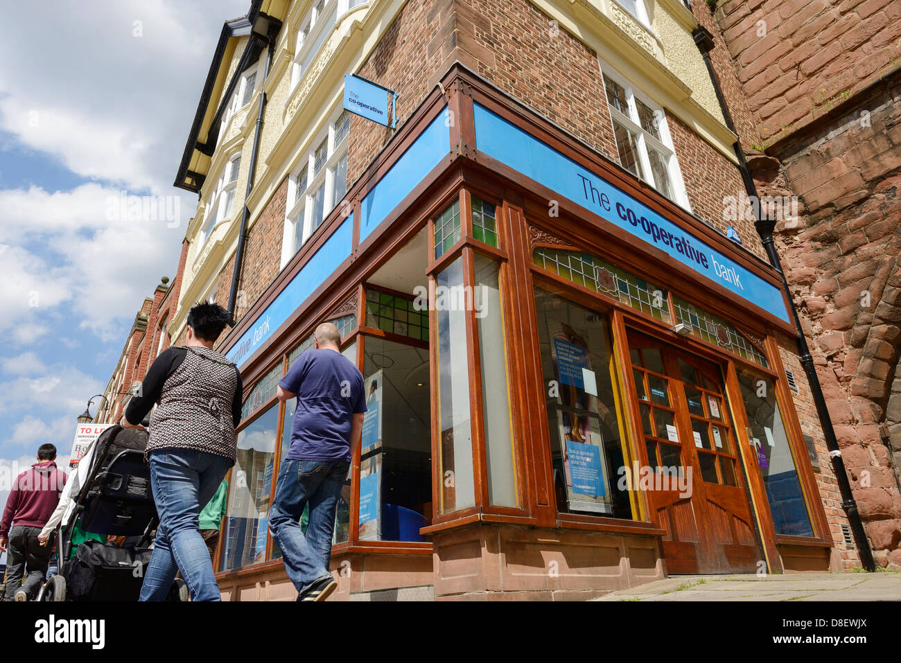 Co-Operative bank branch in Chester - Stock Image