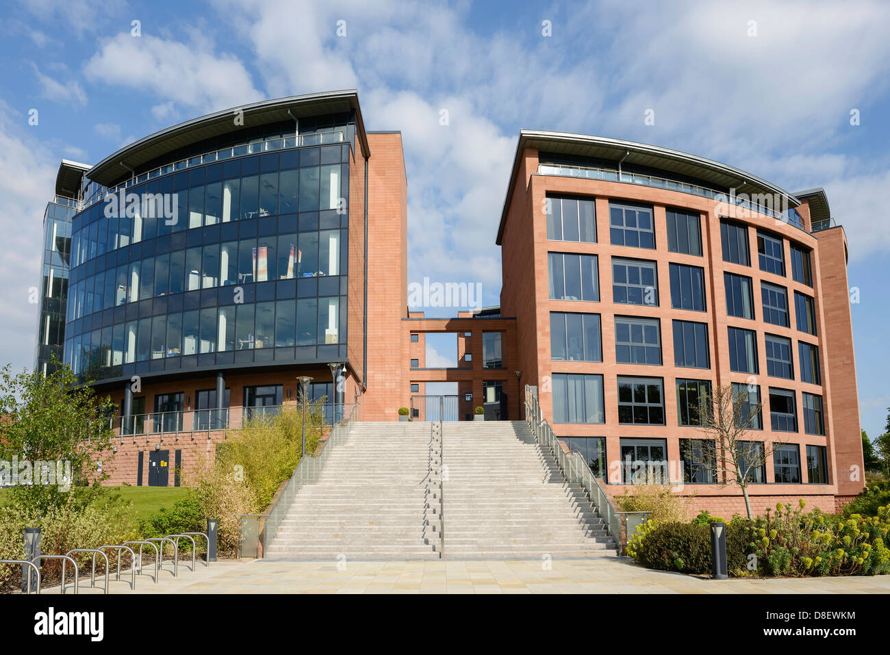 Chester and West Cheshire Council HQ and The Residence apartments Chester UK - Stock Image