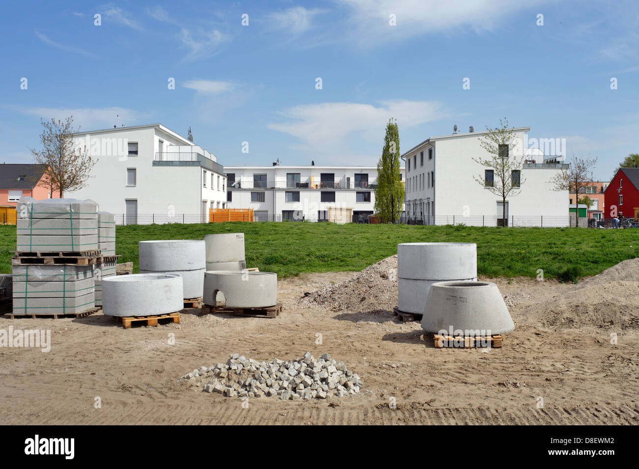 Berlin, Germany, newly built townhouses in the sea Kindel Stock Photo