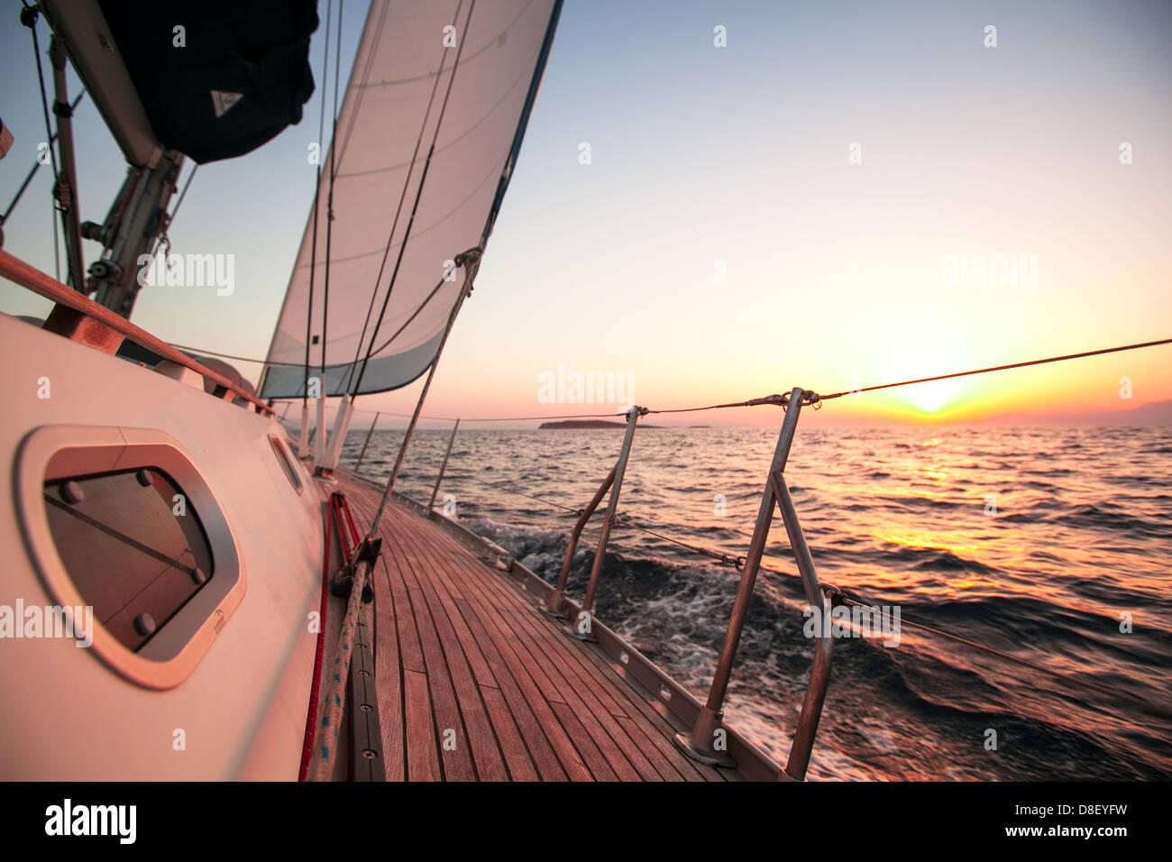 Sailing regatta in Greece - Stock Image