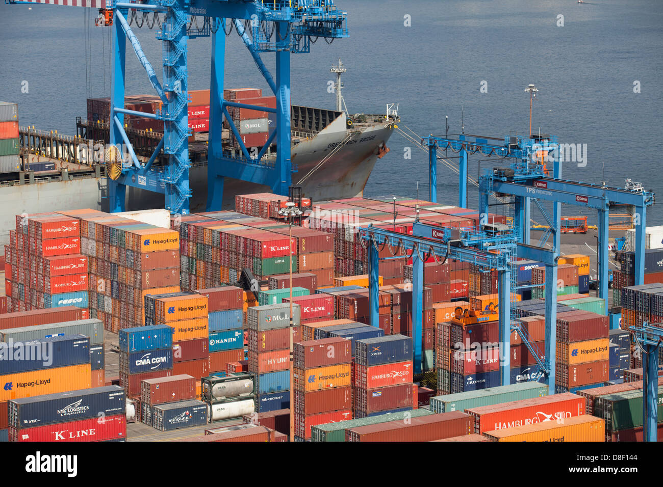 Valparaiso Port Containers - Stock Image