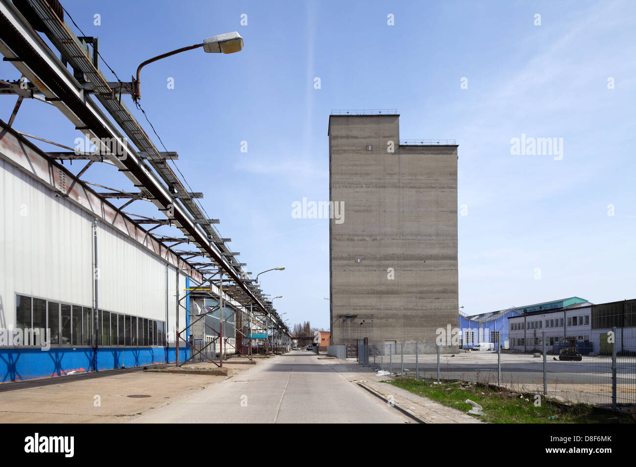 Berlin, Germany, partially disassembled factory buildings - Stock Image