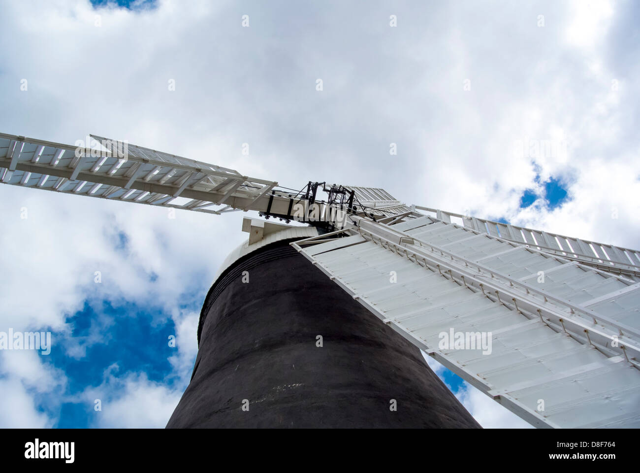 Holgate Windmill, Shot from low angle looking up into sails. York, UK - Stock Image