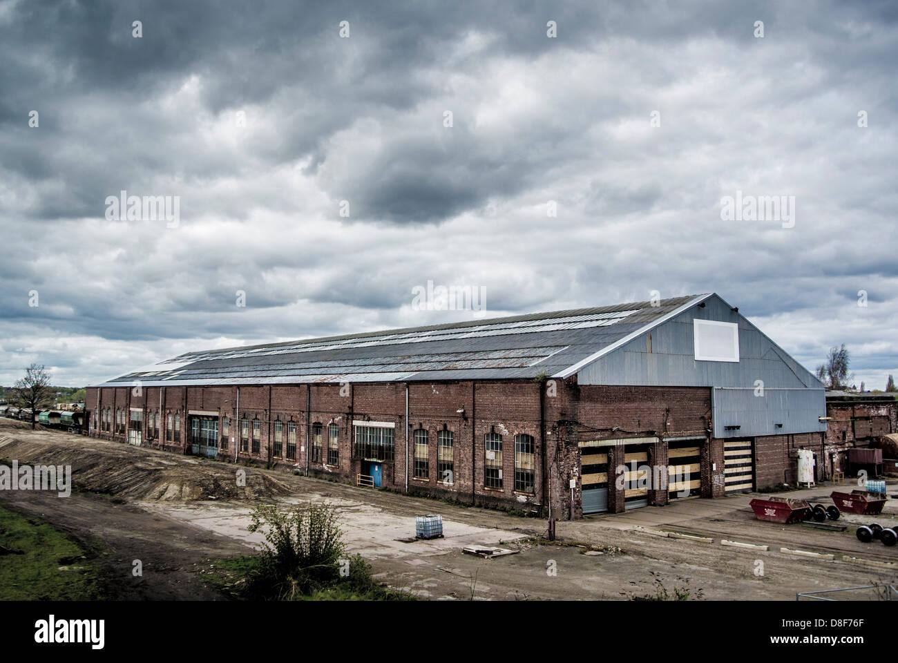 Railway maintenance depot, York. - Stock Image