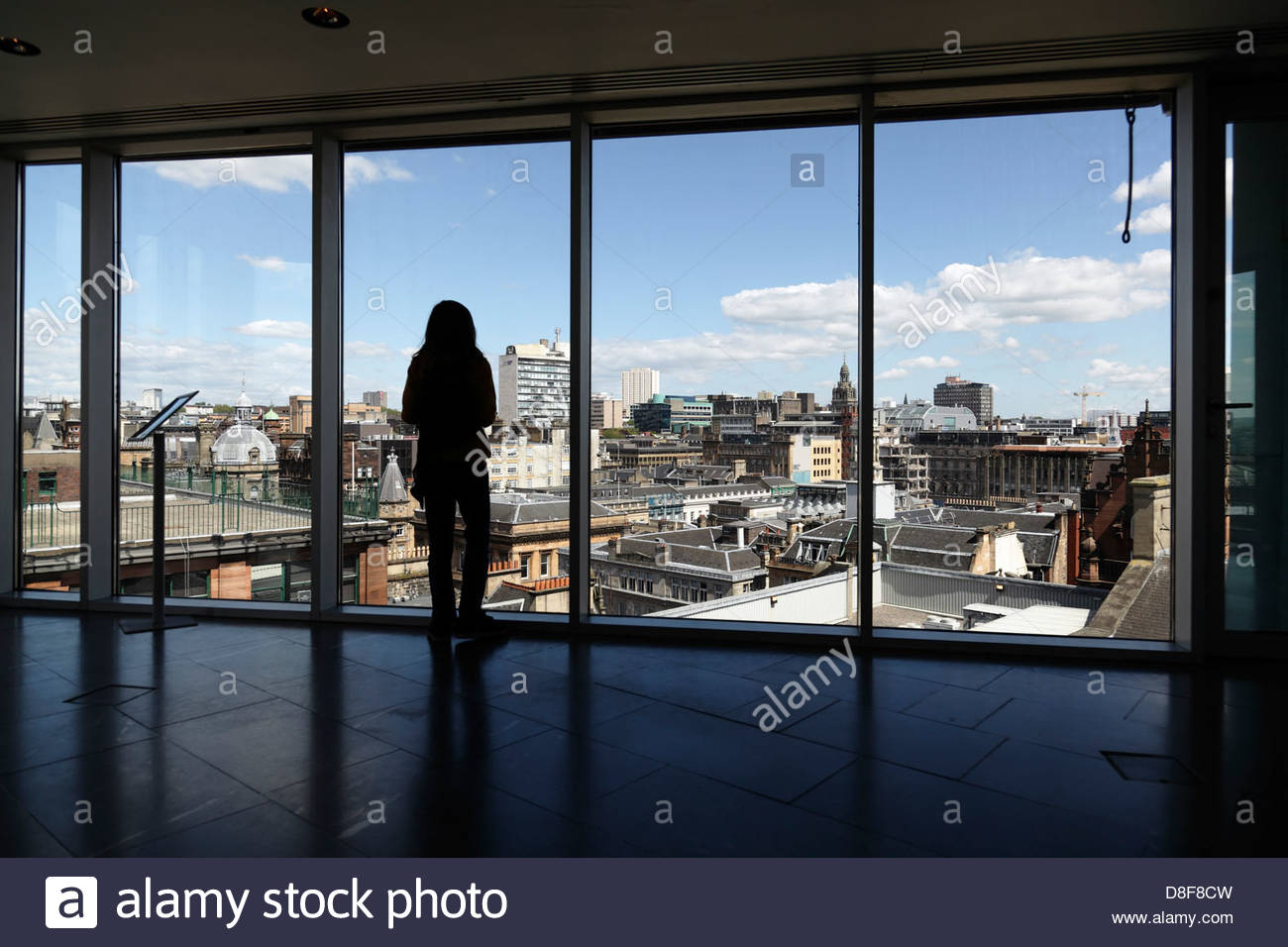 View looking North East over Glasgow city centre from the viewing platform in the Lighthouse building, Scotland, - Stock Image