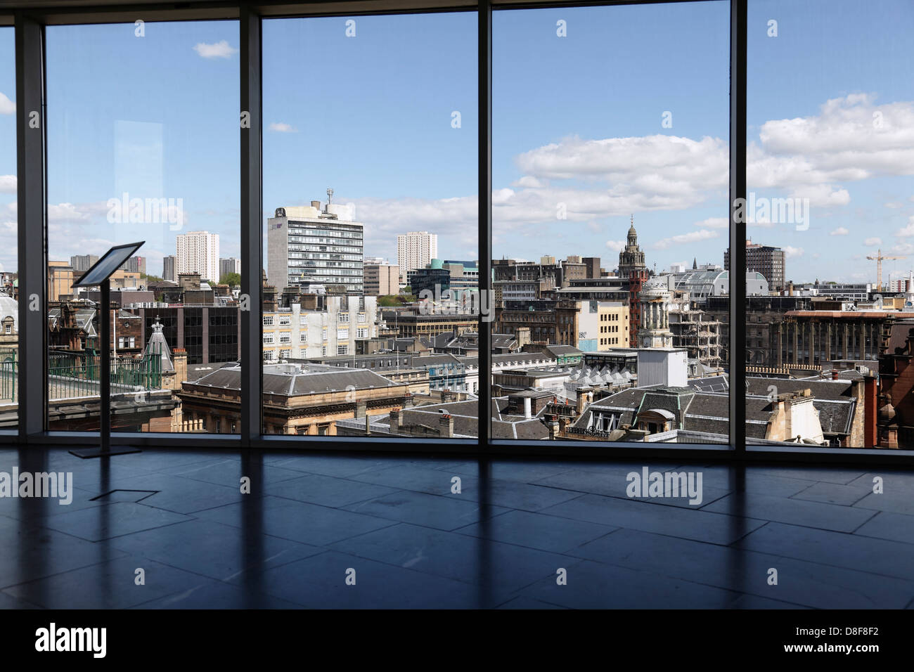 View North East over Glasgow city centre from the viewing platform in the Lighthouse building, Scotland, UK - Stock Image