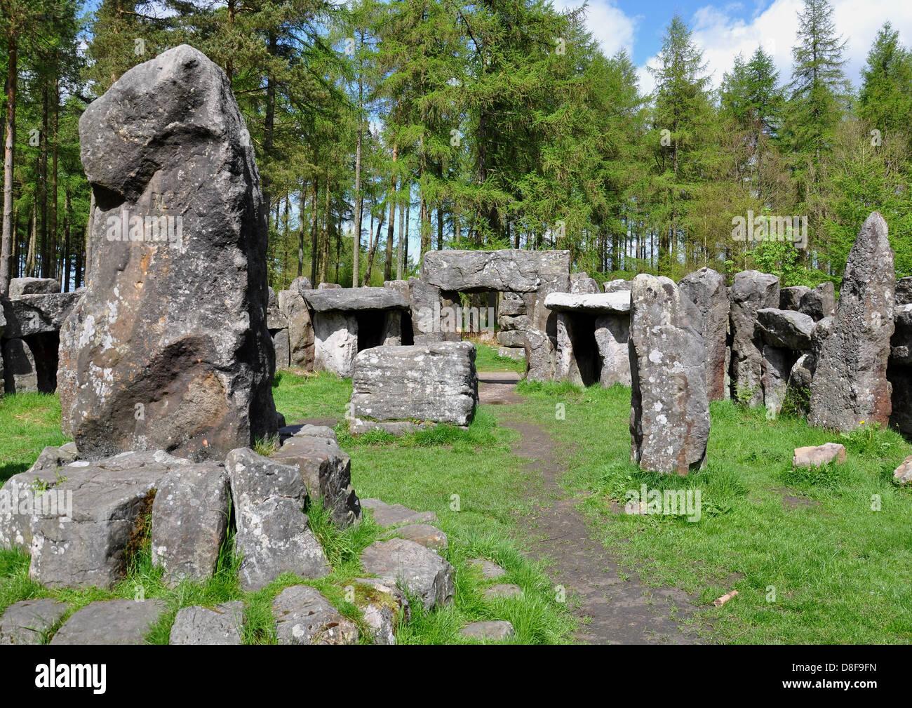 Druid's Temple, Masham, Yorkshire, United KIngdom - Stock Image
