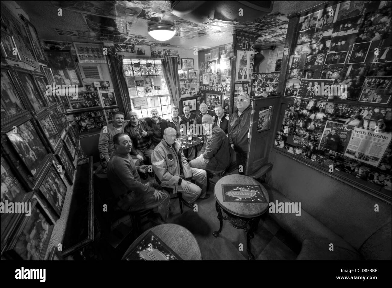Circus Tavern, Manchester, 11 Dubliners in the smallest pub in the city England UK - Stock Image