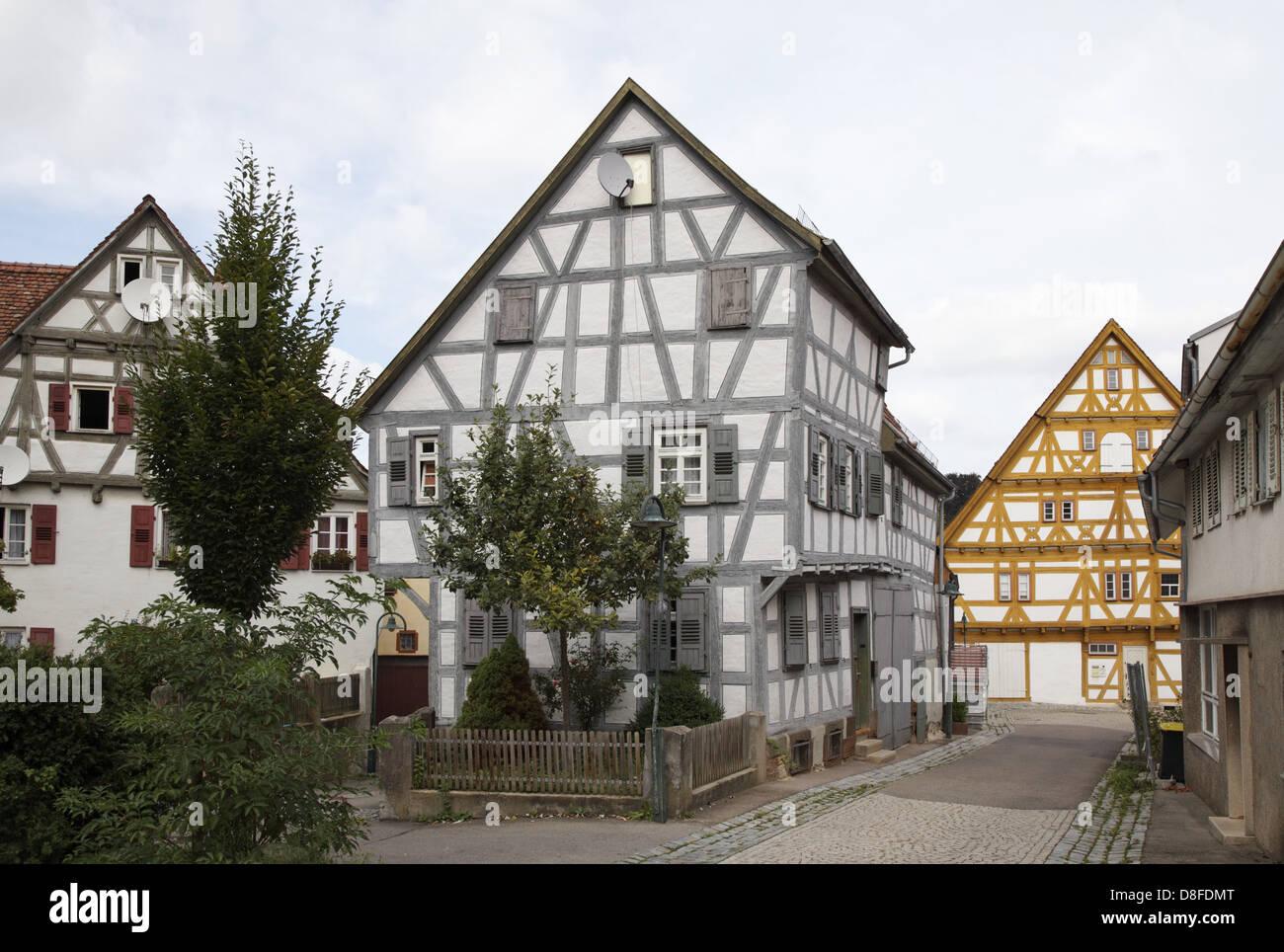 germany baden wuerttemberg waiblingen timbered house peaceful stock photo 56888408 alamy