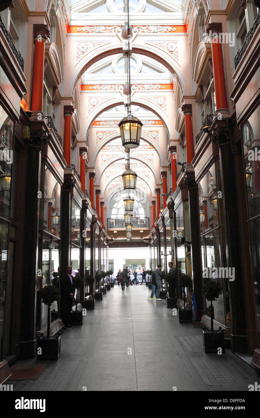 Royal Arcade,high end shopping venue off of Old Bond Street and Albermarle Street. - Stock Image