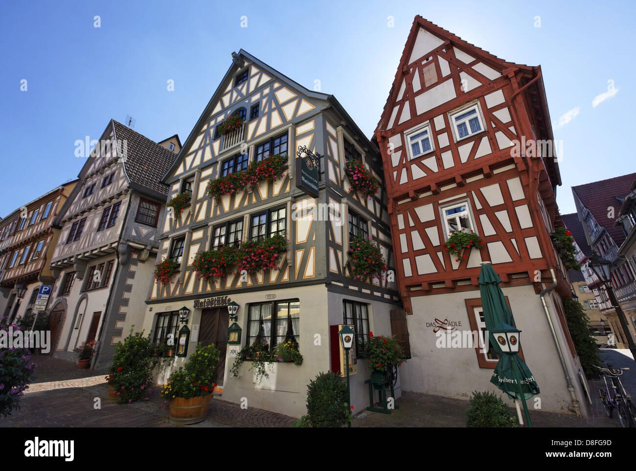 Deutschland baden w rttemberg besigheim fachwerkhaus germany stock photo 56890441 alamy - Bilder von gefliesten badern ...