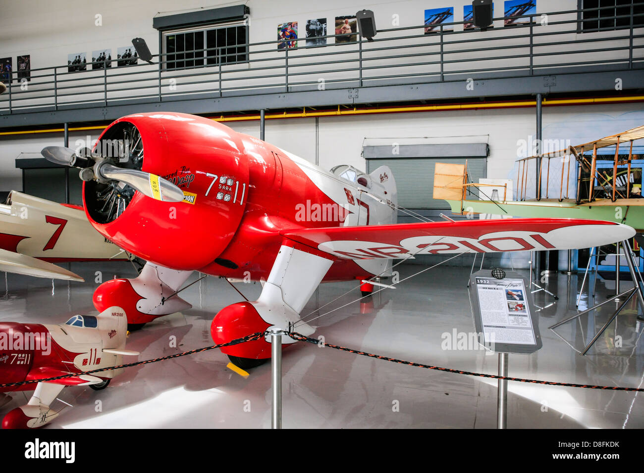 The 1932 Gee Bee R-3 Racing aircraft on display at the Fantasy of Flight Museum, Polk City FL - Stock Image