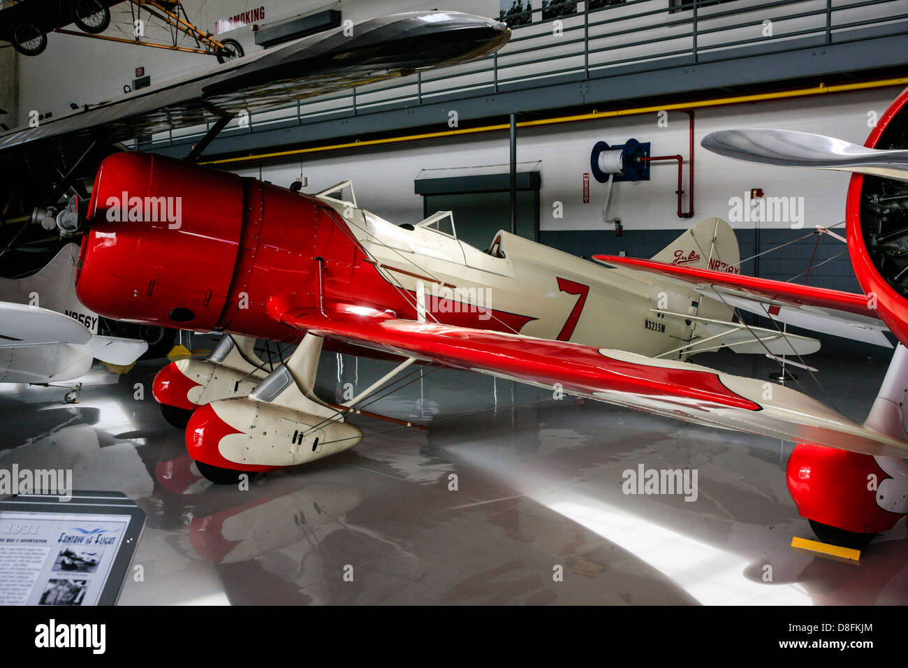 1931 Gee Bee Y Sportster aircraft on display at the Fantasy of Flight Museum, Polk City FL - Stock Image