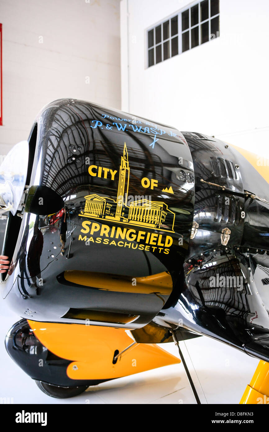 A 1929 Gee Bee Model Z aircraft 'City of Springfield' at the Fantasy of Flight Museum FL - Stock Image