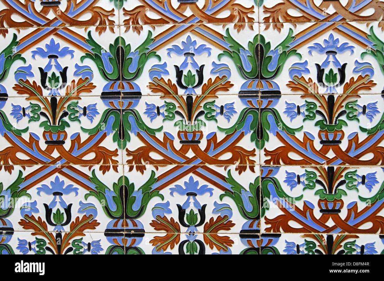 Spanish tiles Stock Photo
