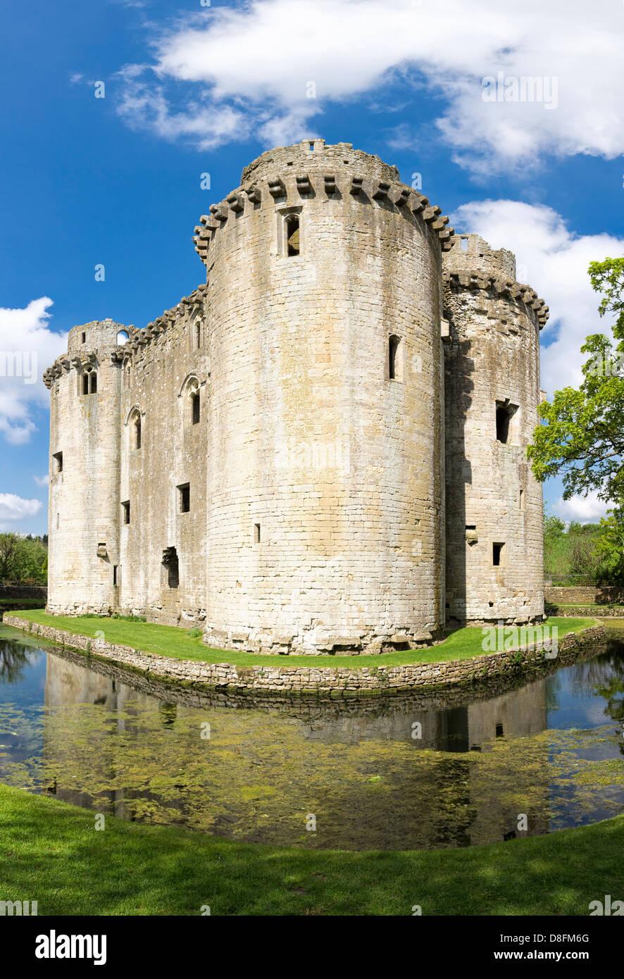 Nunney castle, Somerset, England, UK - Stock Image
