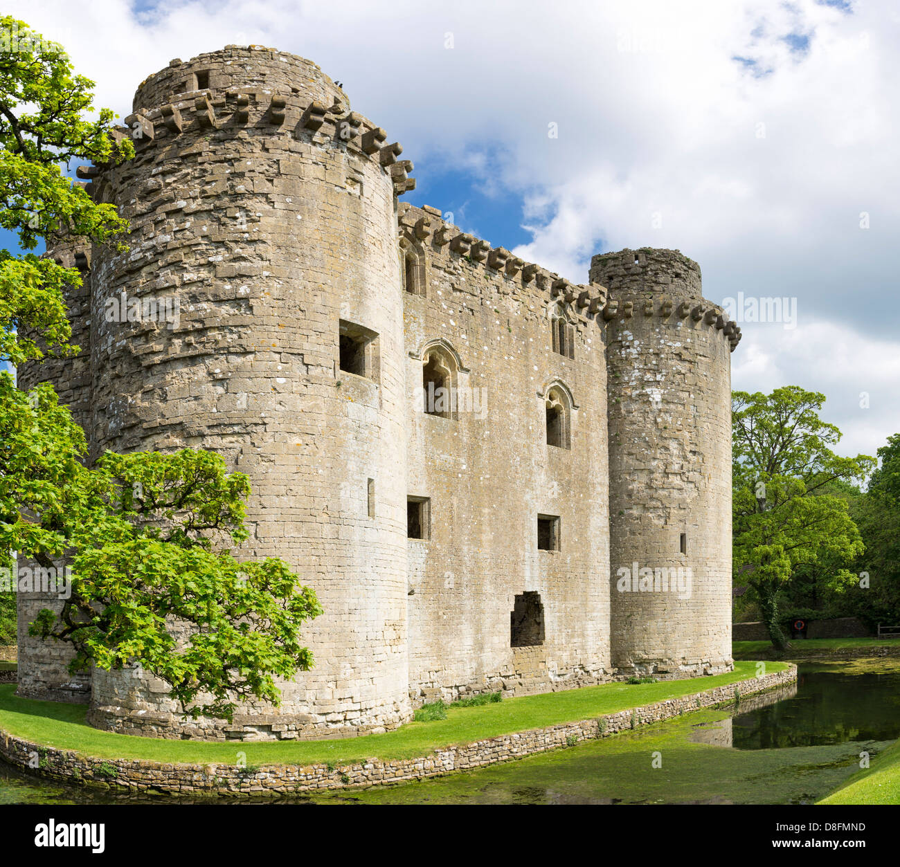 Medieval Nunney Castle, Somerset, England, UK - Stock Image