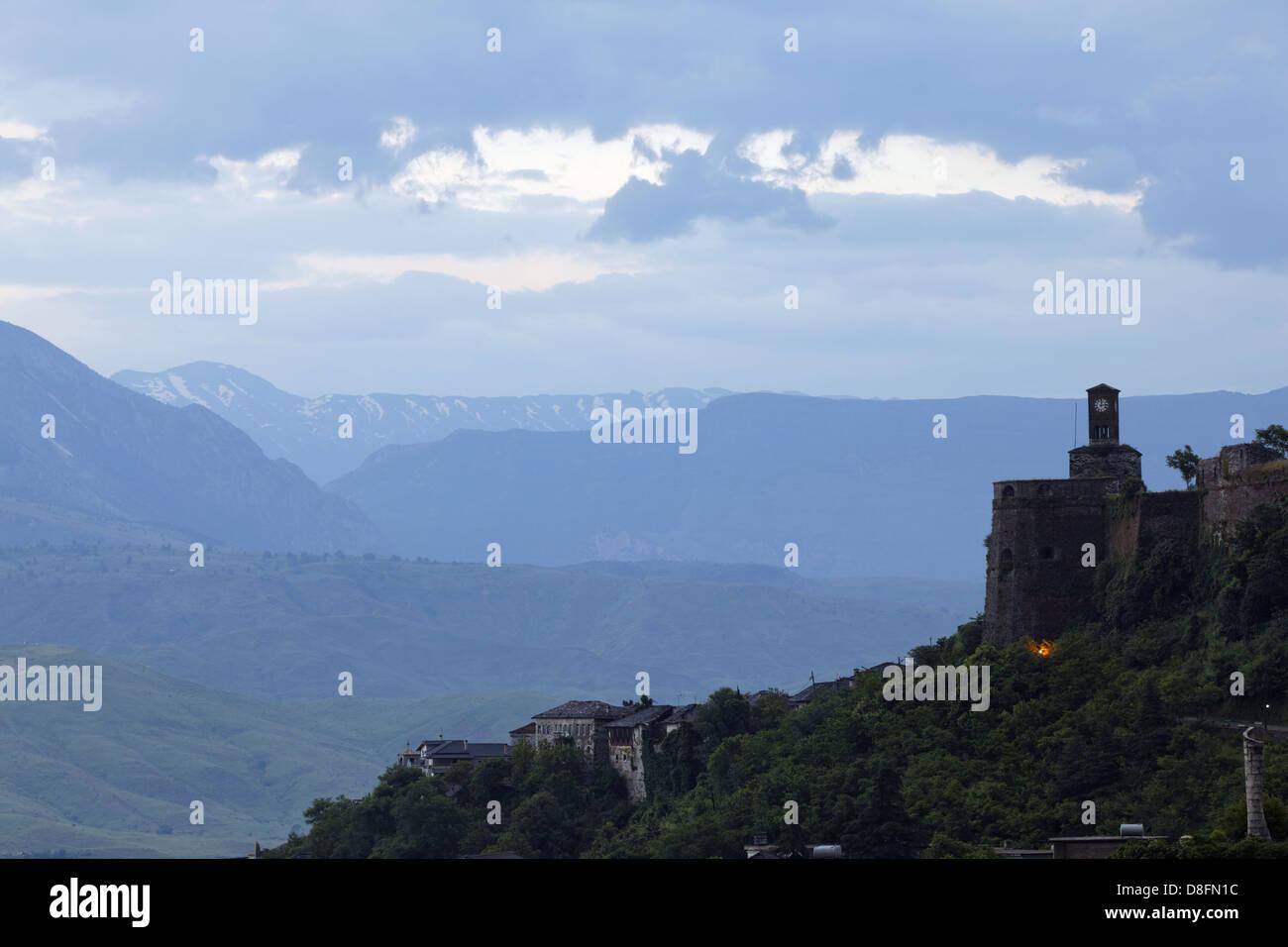 Albania, Gjirokastra, UNESCO; Castle, Albanien, Gjirokastra, UNESCO Welterbe; Burg - Stock Image