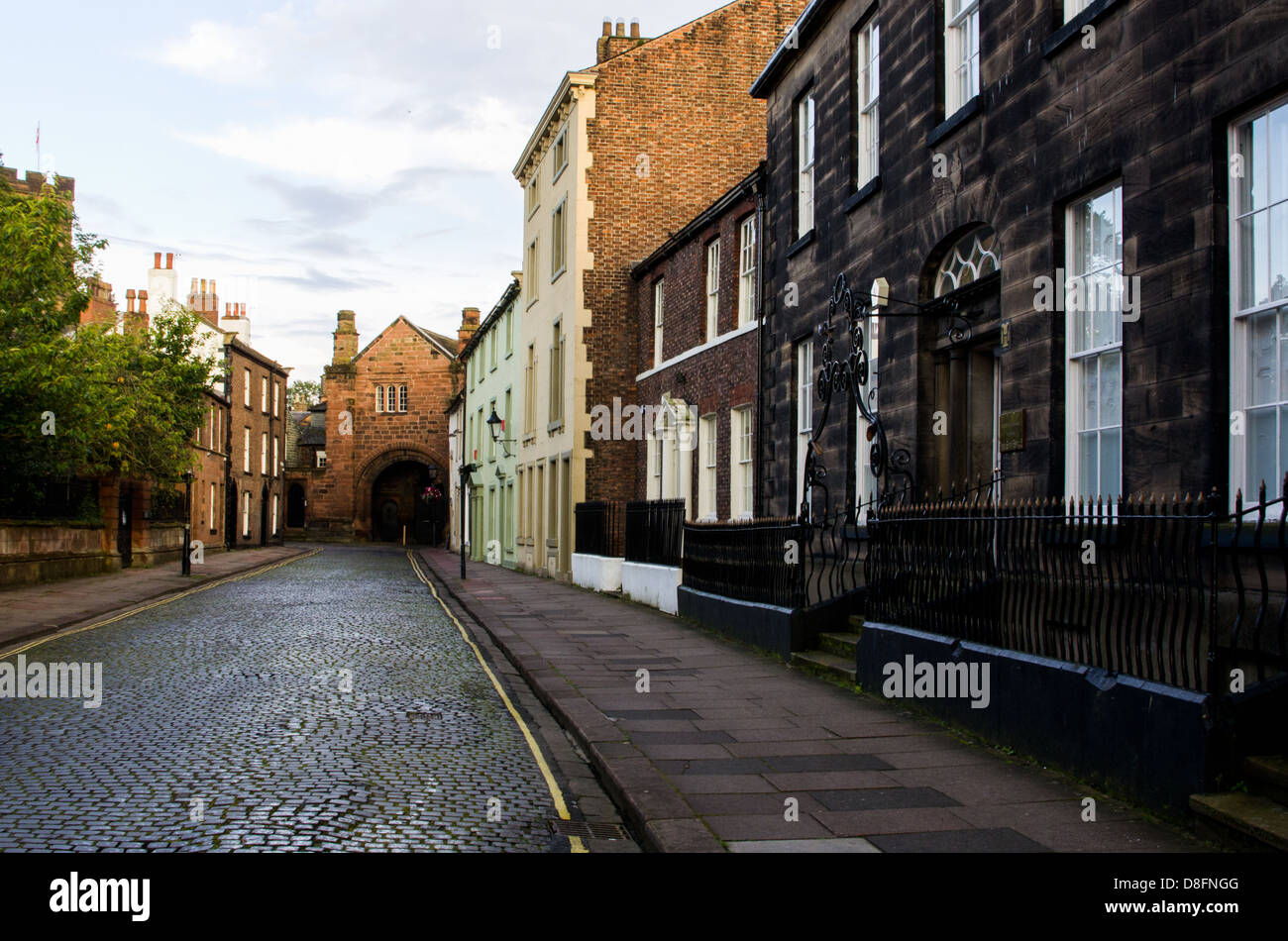 A street view in old town of Carlisle, UK. - Stock Image