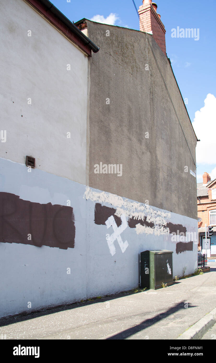 Swastika on Gable wall - Stock Image