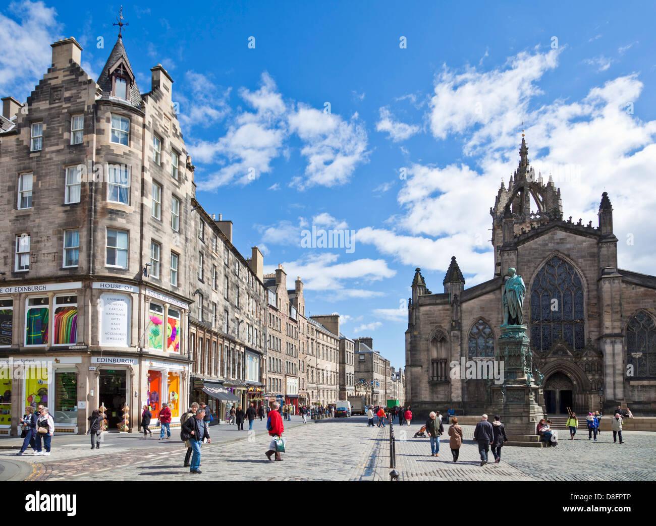 St Giles cathedral High Street Edinburgh royal Mile Midlothian Scotland UK GB EU Europe - Stock Image