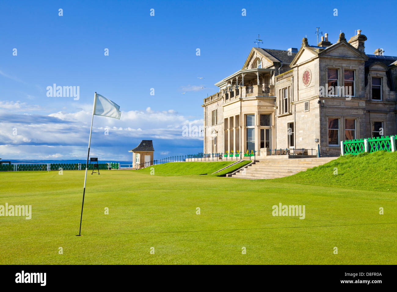 The Royal and Ancient Golf Club of St Andrews golf course and club house St Andrews Fife Scotland UK GB EU Europe - Stock Image