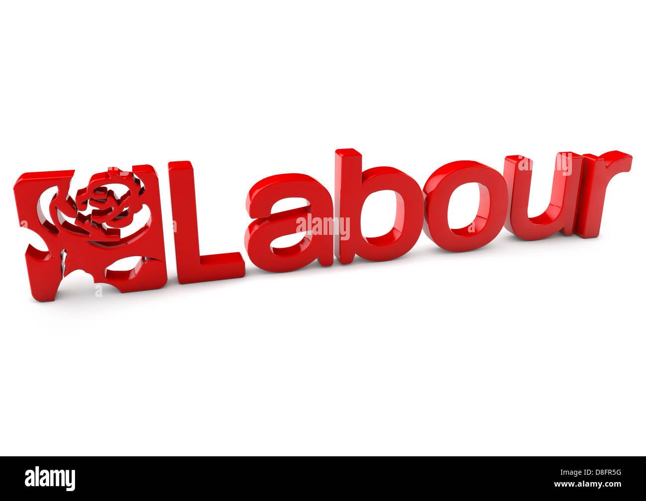 Labour Party logo - Stock Image