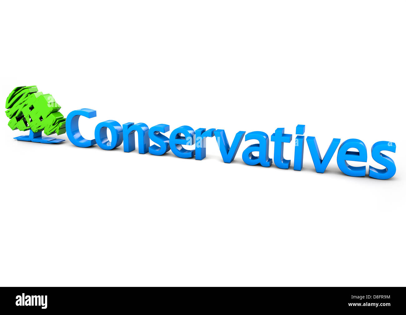 Conservative Party logo - Stock Image
