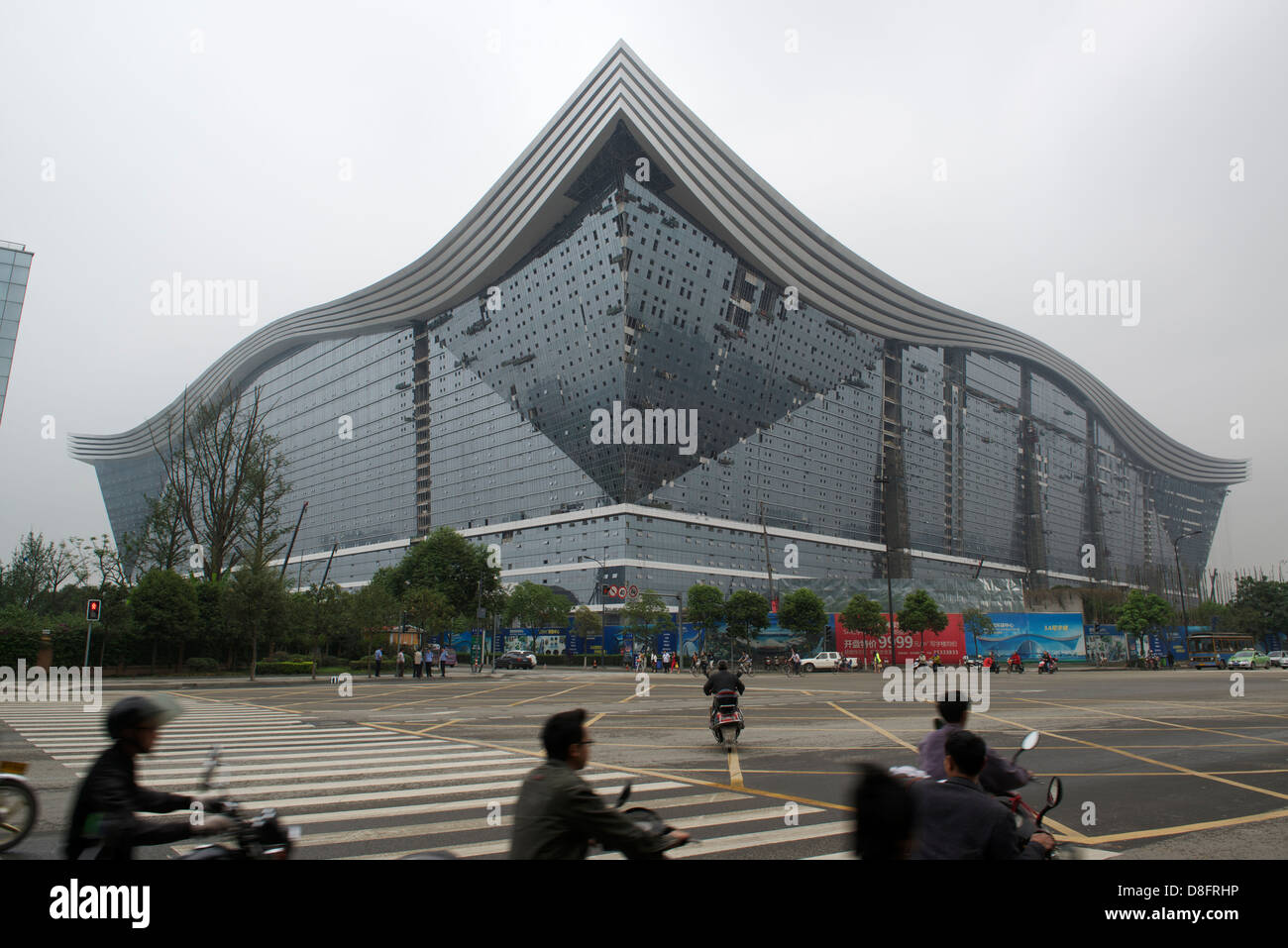 New Century Global Centre in Chengdu, the world's biggest standalone building. - Stock Image
