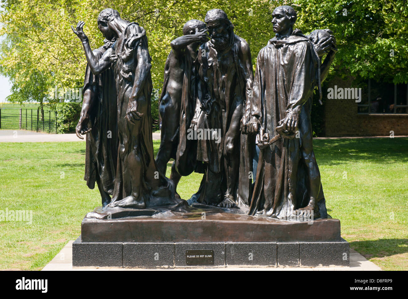 Henry Moore Foundation Perry Green Auguste Rodin exhibition modern contemporary sculpture statue bronze Burghers - Stock Image