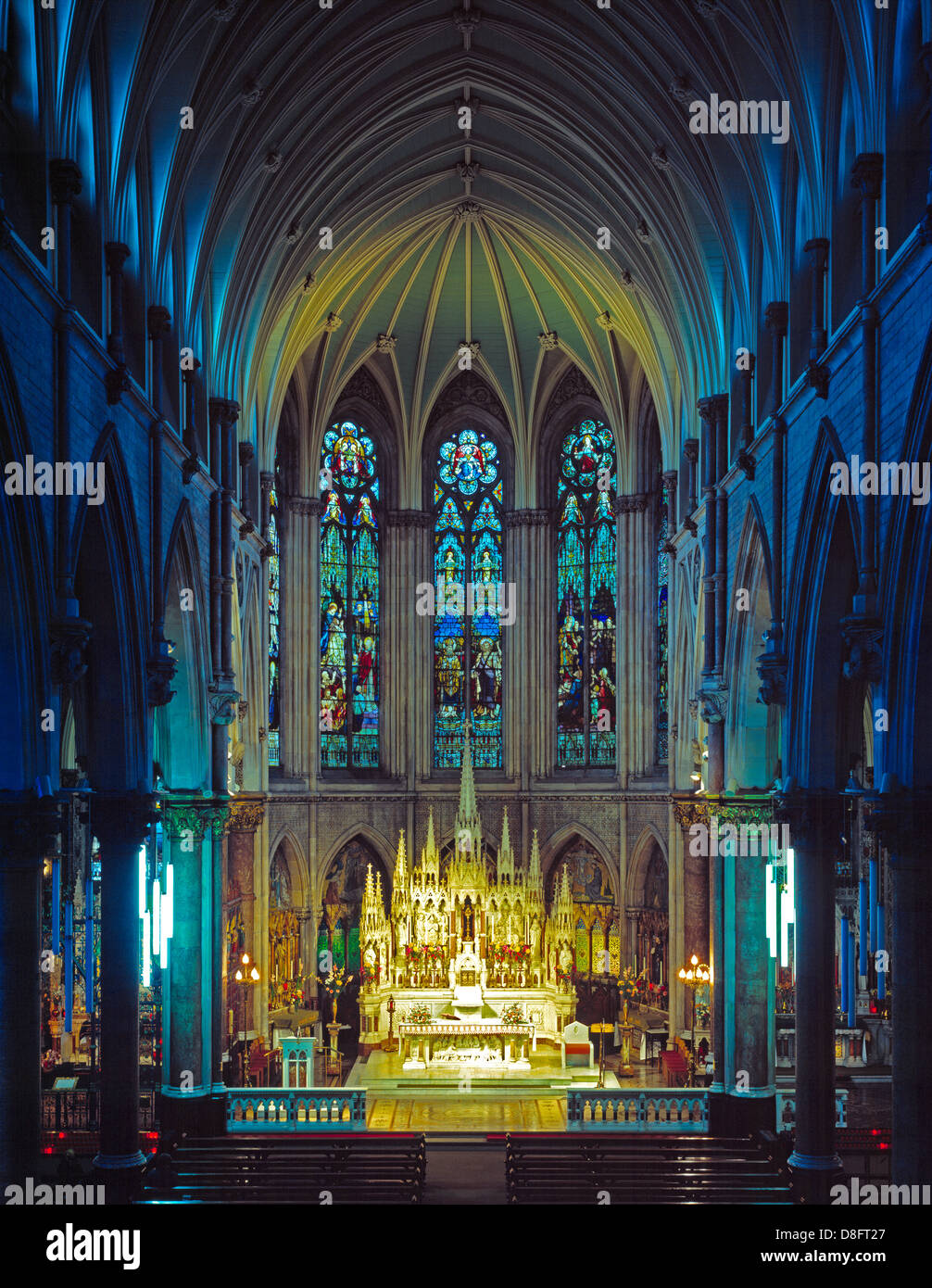 The Interior Of A Gothic Style Catholic Church St Jameson Jamess Street